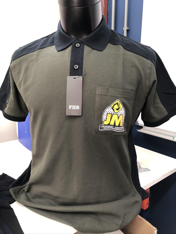 Signaal Bedrijfskleding // JM Grondwerken // Poloshirts en meer werkkleding voorzien van Full Colour bedrukking