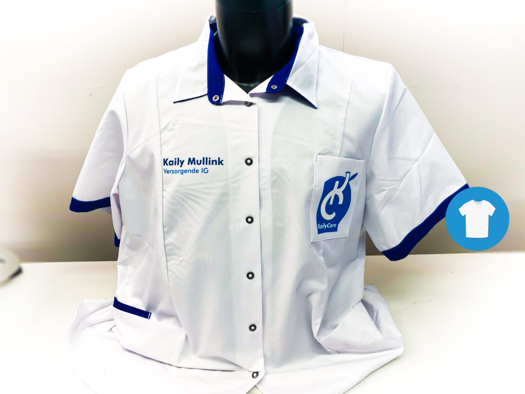 Signaal Bedrijfskleding // Kaily Care // Bedrukken van werkblouses