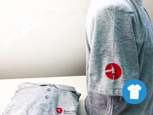 Signaal Bedrijfskleding // Bouke Vieberink Timmerwerk // Werkkleding voorzien van borst- en mouwlogo