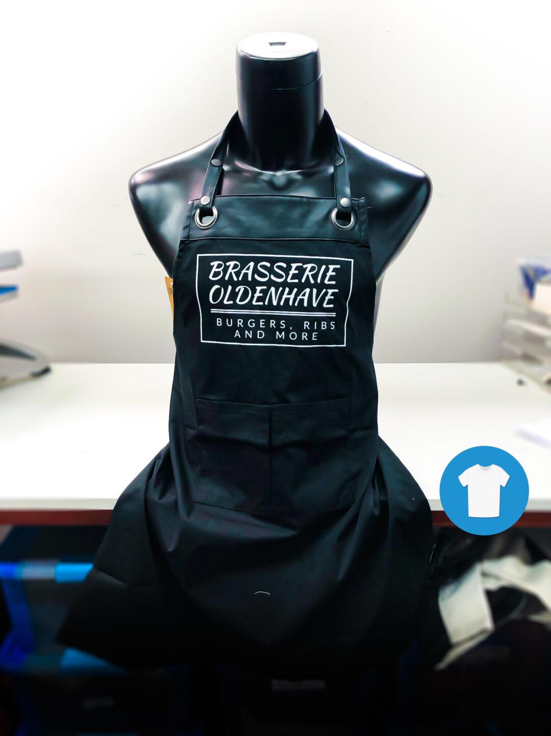 Signaal Bedrijfskleding // Brasserie Oldenhave // Bedrukken van schorten