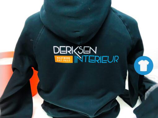 Signaal Bedrijfskleding // Derksen Interieur // Werkjas en Hoody voorzien van borst- en ruglogo