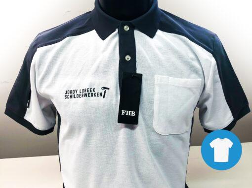 Signaal Bedrijfskleding // Jordy Lobeek Schilderwerken // Werkkleding bedrukt met een borst- en ruglogo