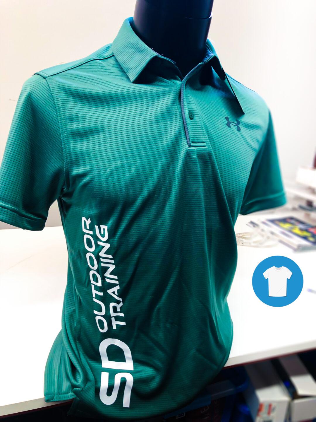 Signaal Bedrijfskleding // SD Outdoor // Sportpoloshirts bedrukt met een buiklogo