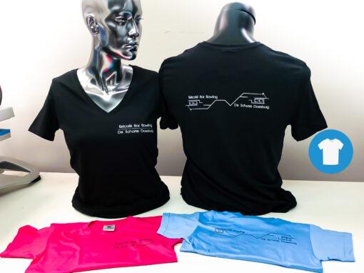 Signaal Bedrijfskleding // De Schorre Doesburg // T-Shirts in verschillende kleuren bedrukt