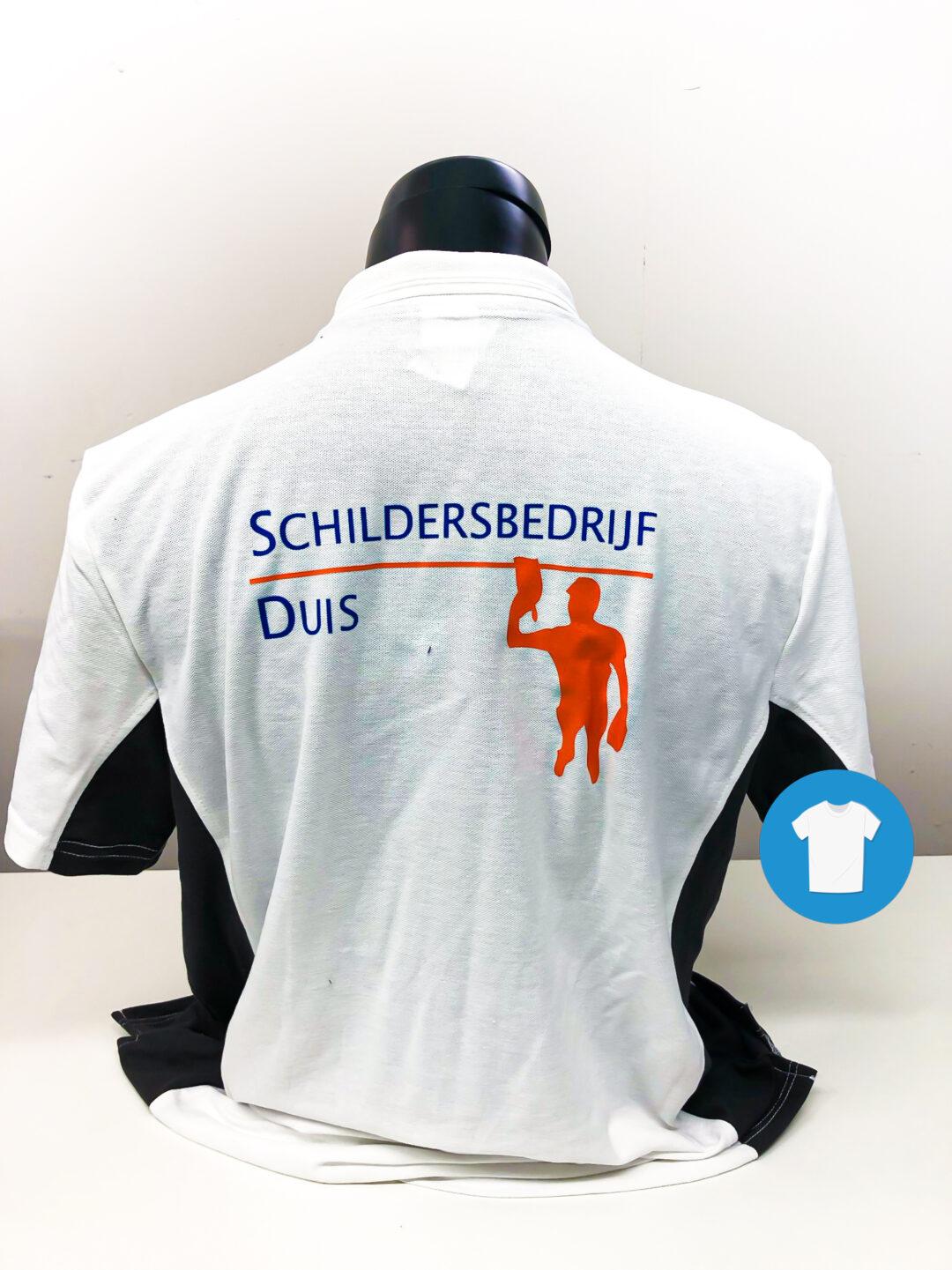 Signaal Bedrijfskleding // Schildersbedrijf Duis // Werkkleding voorzien van een borst- en ruglogo