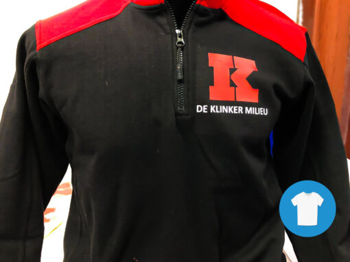 Signaal Bedrijfskleding // De Klinker // Werkkleding bedrukt met een borst- en ruglogo