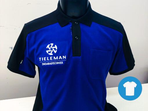 Signaal Bedrijfskleding // Tieleman // Poloshirts en T-Shirts bedrukt met borst- en ruglogo