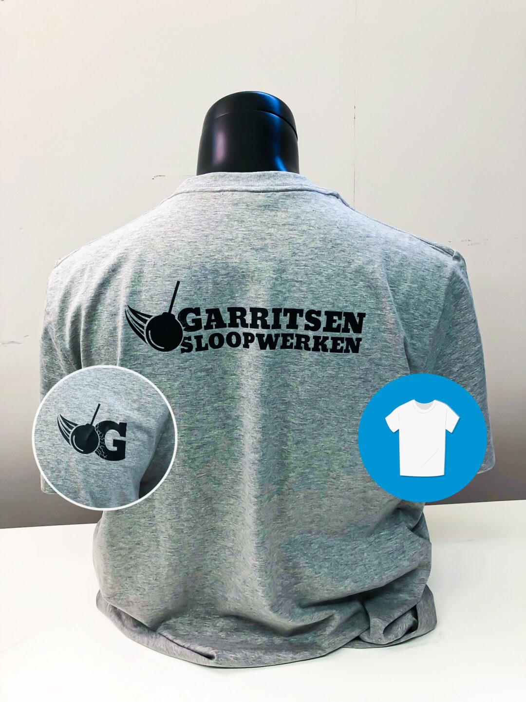 Signaal Bedrijfskleding // Garritsen Sloopwerken // Bedrukte T-Shirts met door ons ontworpen logo