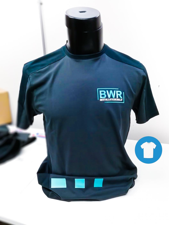 Signaal Bedrijfskleding // BWR Installatiebedrijf // T-Shirts, Poloshirts & Softshell Jassen bedrukt in huisstijl